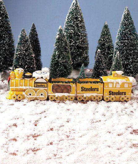 Pittsburgh Steelers Nfl Holiday Train Set Football Team Fan Christmas Home Decor Pittsburghsteelers