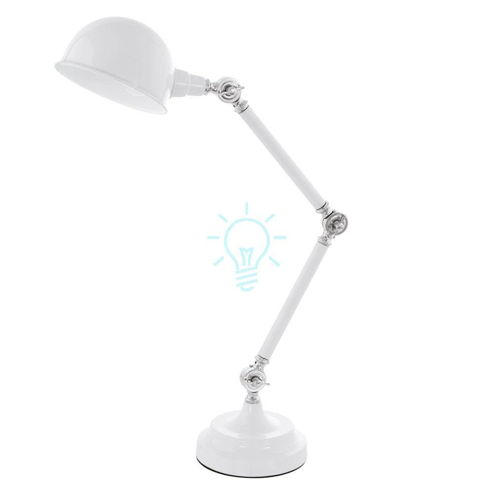 Lampa Biurkowa Gabinetowa Lasora Biala Retro Table Lamp Lamp Desk Lamp