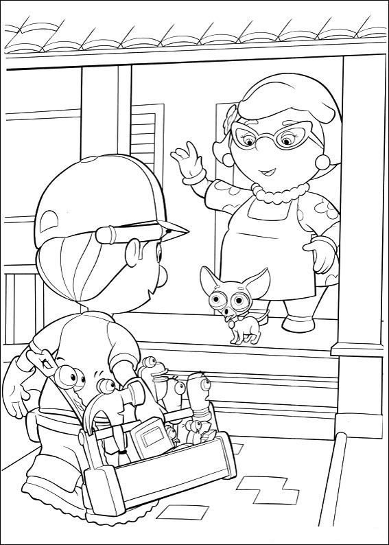 Handy Manny Coloring Page, Disney, source kids-n-fun.com | Bob the ...