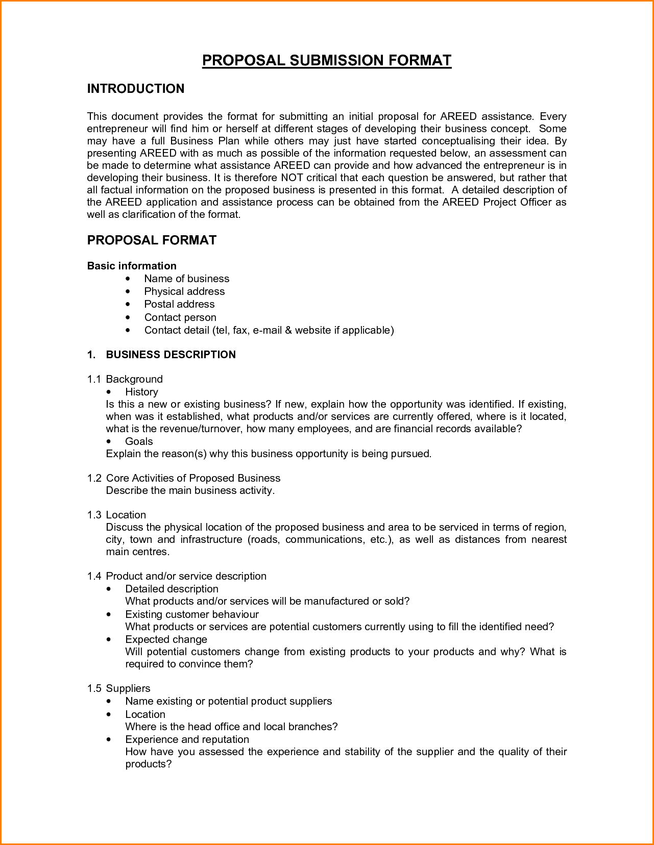 business proposal format free pdf word documents job