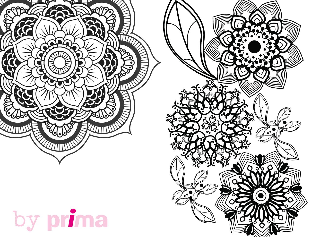 Mandala et coloriage fleur  imprimer