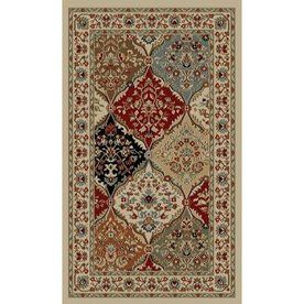 Style Selections Gabbett Multicolor Rectangular Indoor Woven Oriental Throw Rug Common 2 X 3
