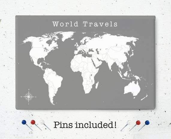 Travel tracker canvas world map canvas art print world travels travel tracker canvas world map canvas art print world travels push pin diary stretched gallery wrapped canvas wall art gumiabroncs Images