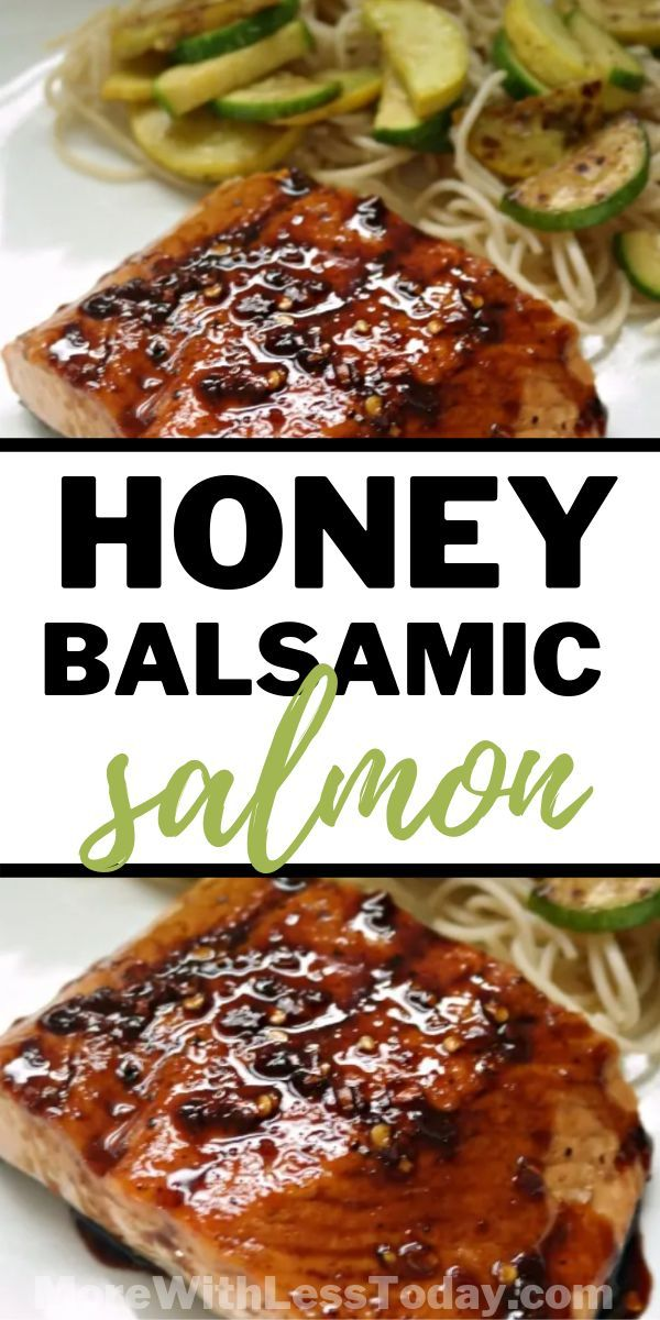 Honey Balsamic Pan Seared Salmon - More With Less Today