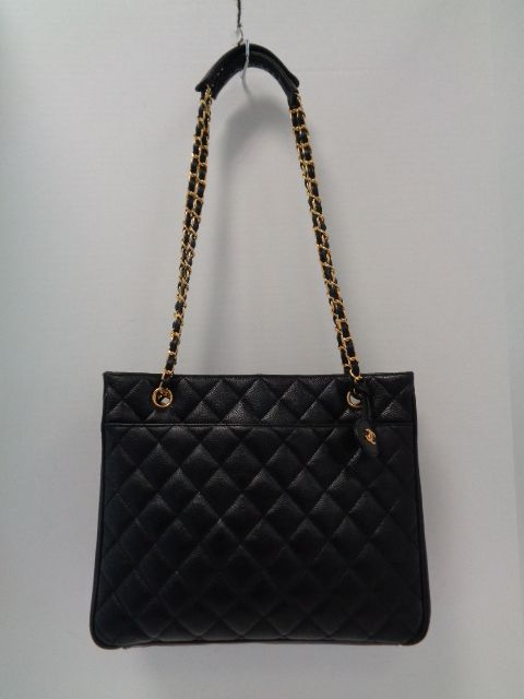 c72a193cd914 Keeks Buy Sell Designer Handbags - Chanel Vintage Black Caviar Quilted  Leather Chain Tote