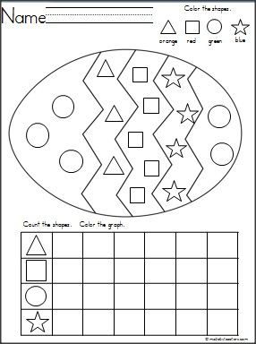 Easter Egg Shapes Graph Madebyteachers Easter Math Easter Math Worksheets Easter School