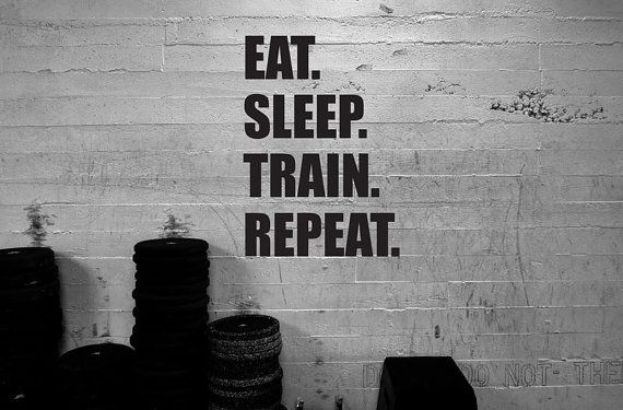 Crossfit Vinyl Decal Eat.Sleep.Train.Repeat. Wall by Mpressvinyl, $24.00