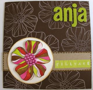 Birthday card for Anja
