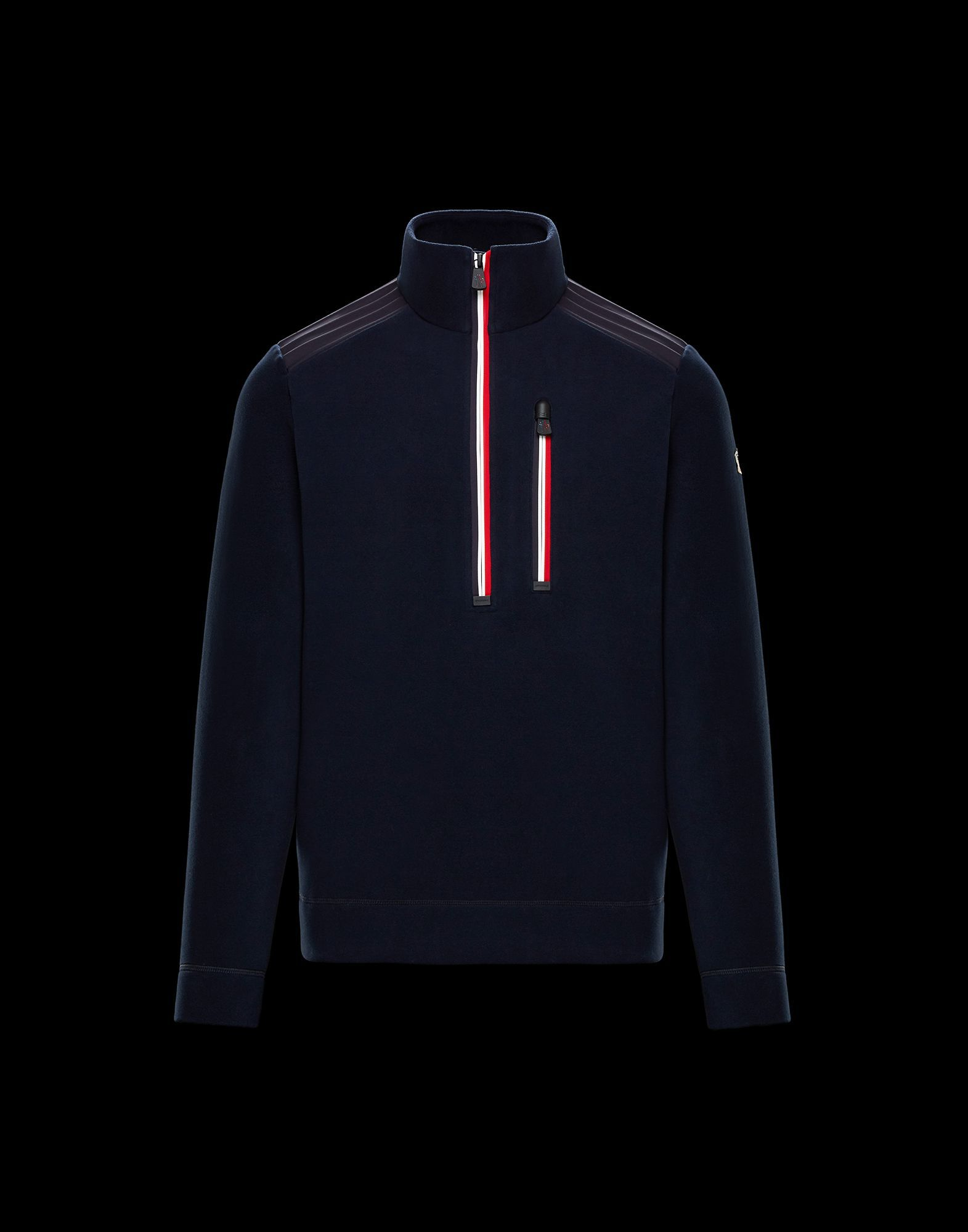 6526fefdd60b Moncler ZIPPED MOCK TURTLENECK for Man, High neck sweaters   Official  Online Store