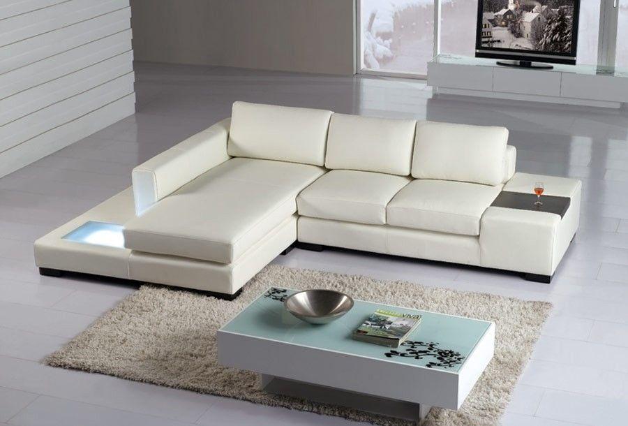 T35 Mini-Moderne Leder-Couchgarnitur Mini-Schnitt-Sofa ...