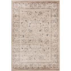 room makeover grey benuta Teppich Velvet Beige 160x230 cm - Vintage Teppich im Used-Look benuta