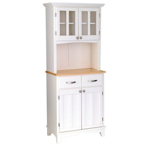 Bakers Rack Wood Cabinets Saw One With Granite Looking Counter Gray Color
