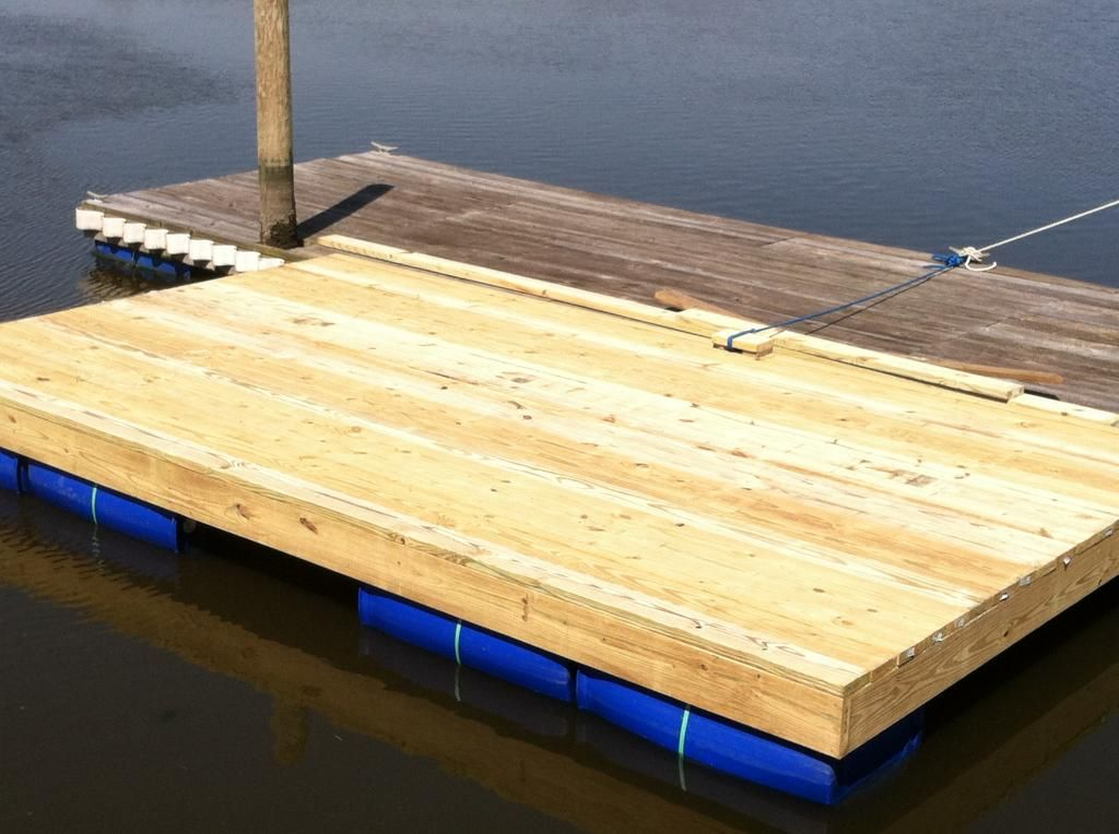 Homemade floating dock pics included the hull truth for Floating platform deck