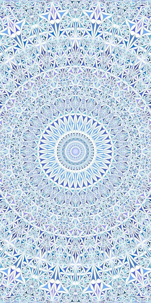 Blue Seamless Kaleidoscope Pattern Background Design Stock Vector (Royalty Free) 1243305784