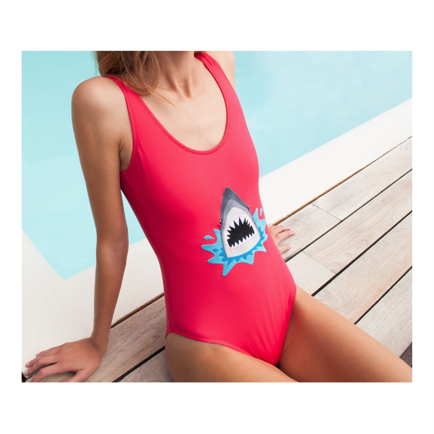 d63a8dd90c Browse Sharky Embroidered Swimsuit and more from My Pair of Jeans at Wolf    Badger - the leading destination for independent designer fashion