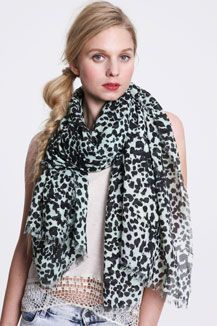 Oversized Animal Print Scarf