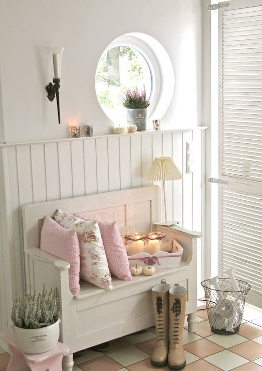 Ideas para decorar el recibidor en estilo shabby chic - Ideas para decorar recibidor ...