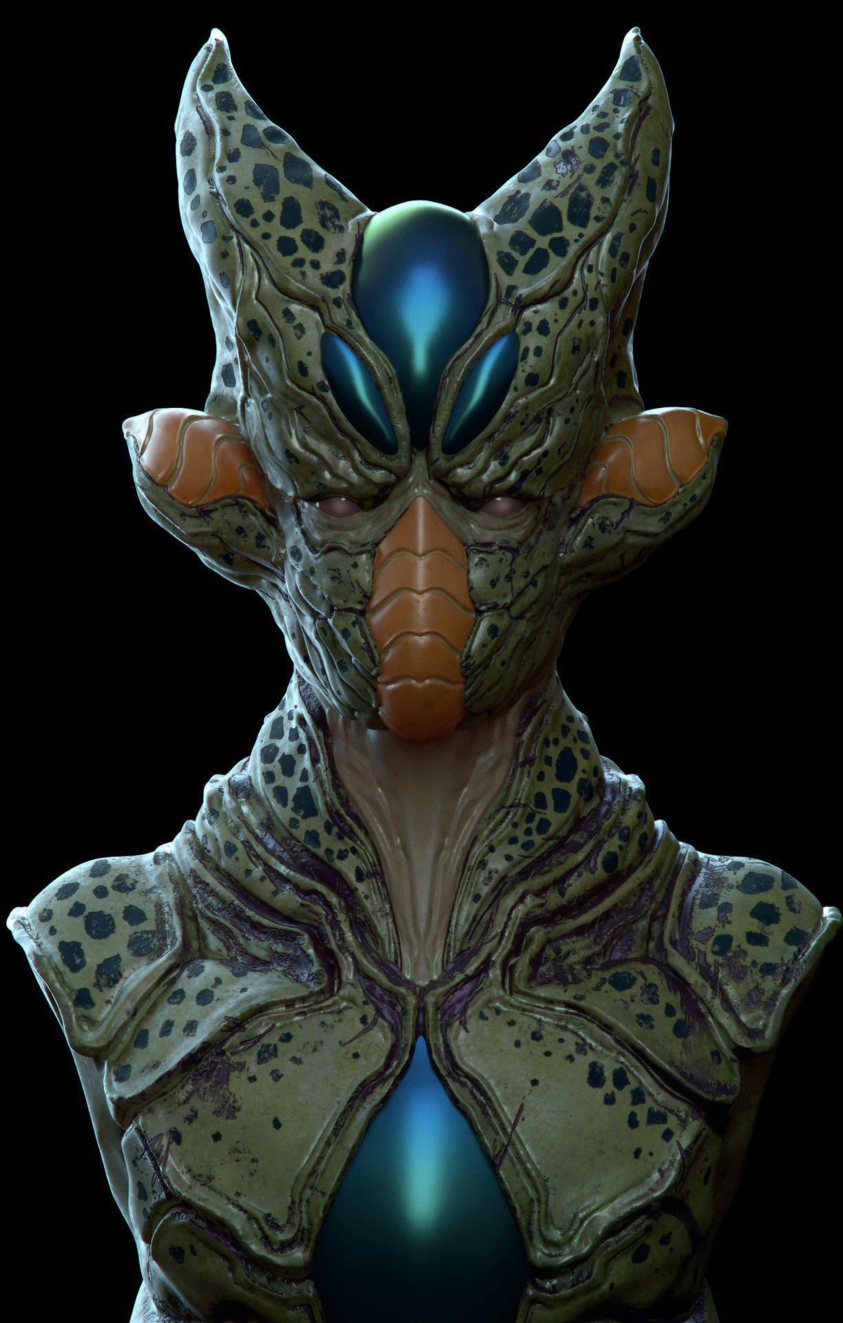 imperfect cell dragon ball fan art by pavee keawmafai dragon