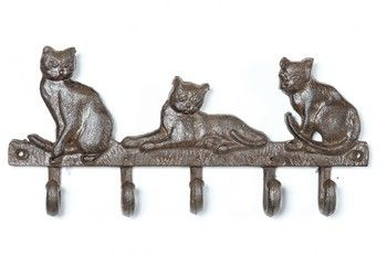 Cast iron Cat Hook rail - Rustic : Black Country Metalworks Ltd
