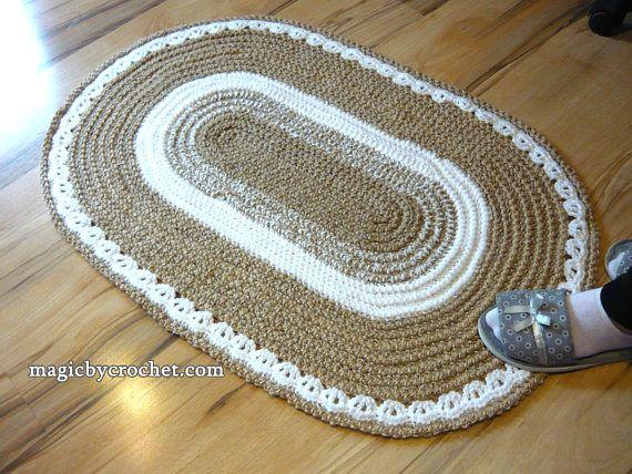 Auf Lager Teppich bereit um zu versenden. Ovalen Teppich, geflochtene Teppich, Jute Teppich, 2 x 3 ft Teppich, häkeln Teppich, Deckchen Teppich, handgefertigten Teppich Alle unsere Teppiche können angepasst werden, um Ihren Wunsch zu erfüllen. Diese schöne Teppich wurde aus 100 %