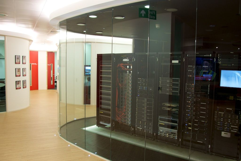 Would love a server Room with Glass like this Server RoomCabling