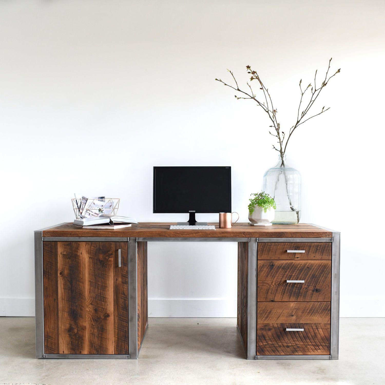 Industrial Home Office Desk. Vintage Home Office Furniture Interior ...