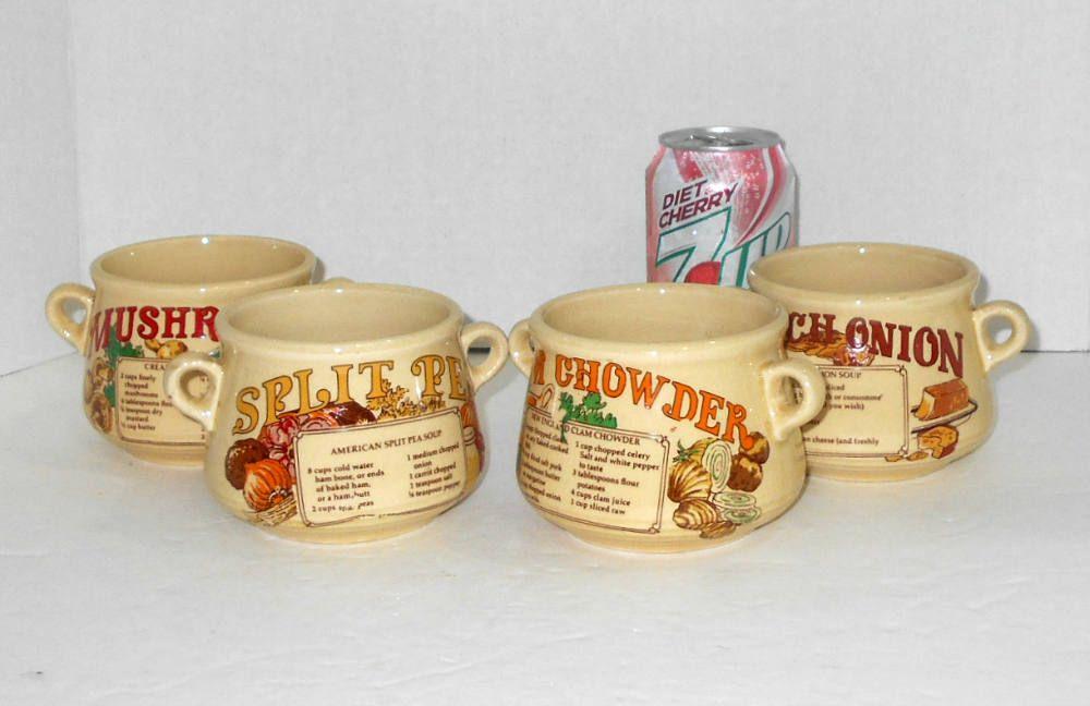 Recipe Soup Bowls Handle Soup Bowls Soup Recipe Bowls Two Handled