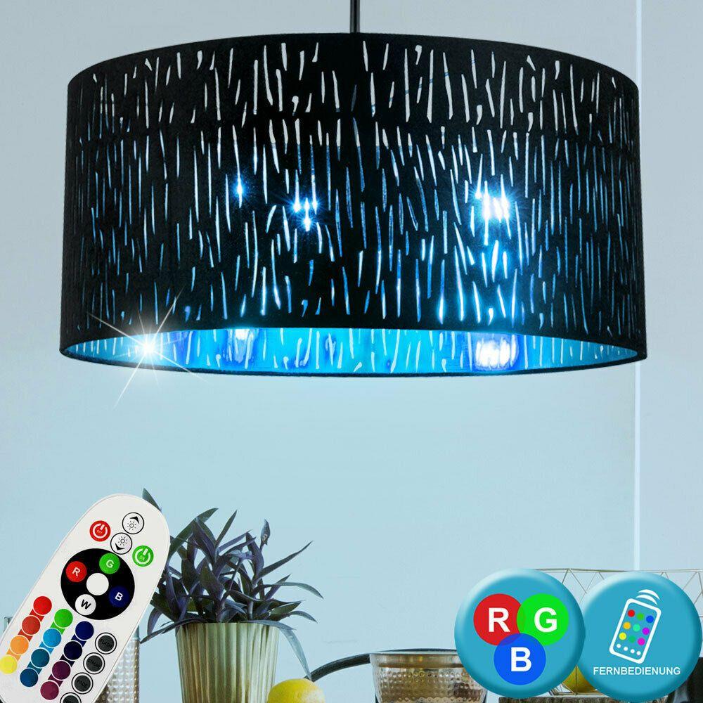 RGB LED Pendel Leuchte Wohn Zimmer Fernbedienung Decken Glas Strahler dimmbar