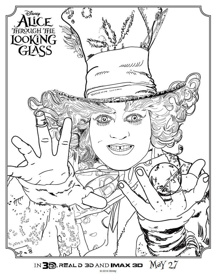 Alice Through The Looking Glass Coloring Pages | Cheshire cat ...