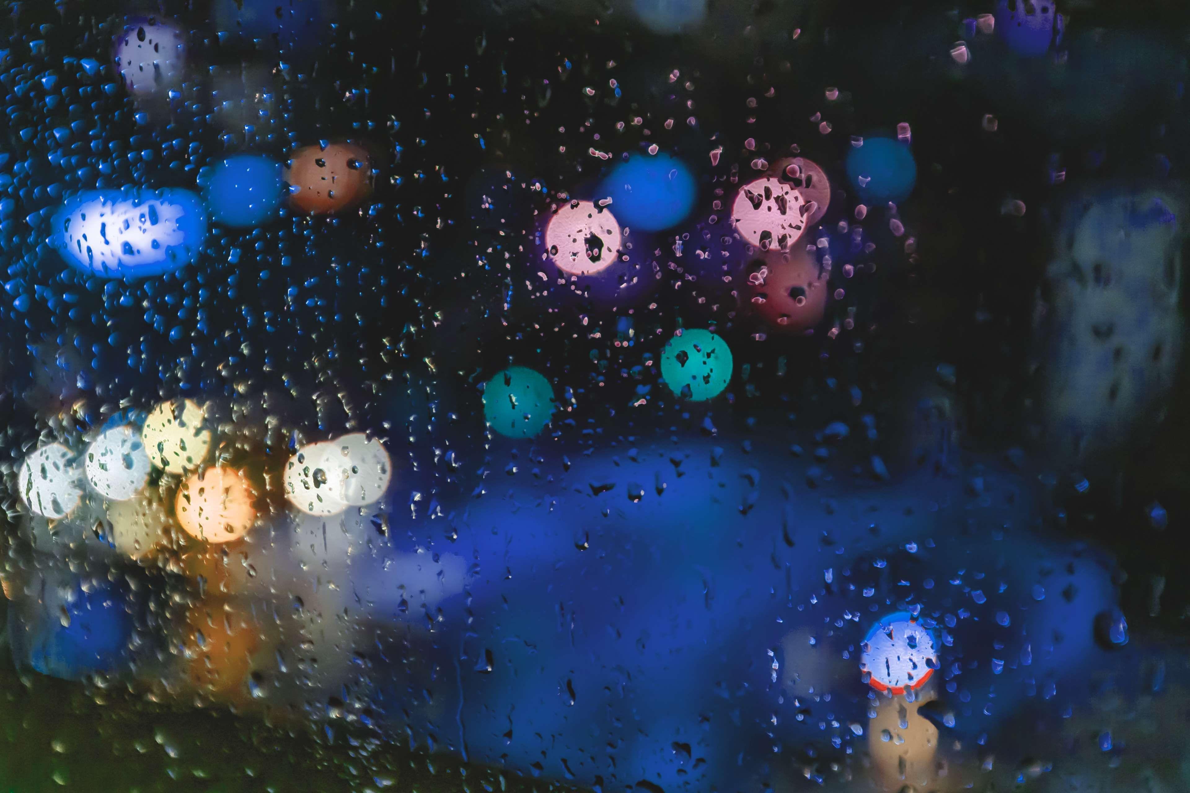 Background Blurred Background Blurry Bokeh City Citylife Lights Rain Window Blurry Lights Cool Wallpaper Aesthetic Light