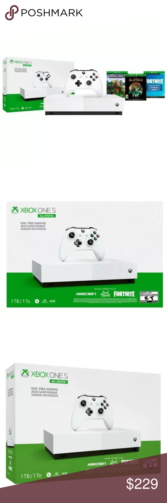 MICROSOFT XBOX ONE S 1TB DIGITAL EDITION BUNDLE MICROSOFT
