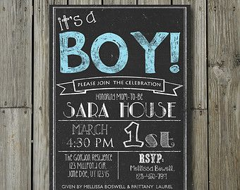 baby shower chalkboard boy or girl personalized by pixsew