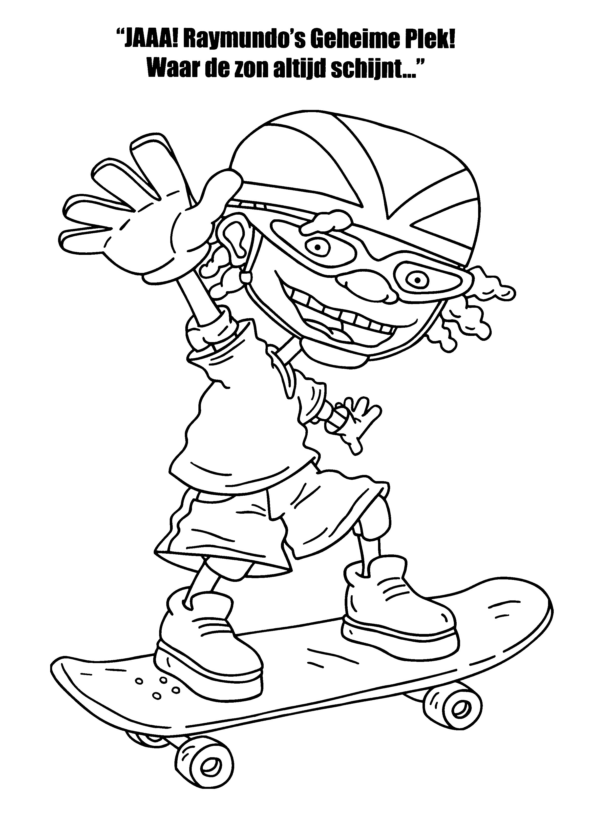 rocket power coloring pages free coloring pages download xsibe