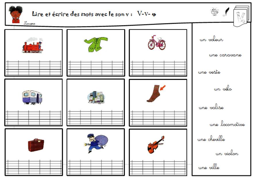 Le Son V Activites De Lecture En Maternelle Apprentissage De L Anglais Lecture Ce1