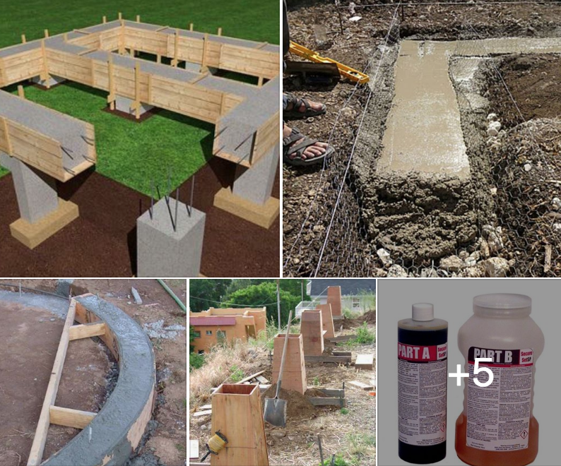 Off Grid Living How To Pour Cement Wall Foundation Footers For An Off Grid Shed Cabin Or Home See More Off Grid Cement Walls Concrete Block Walls Shed Cabin