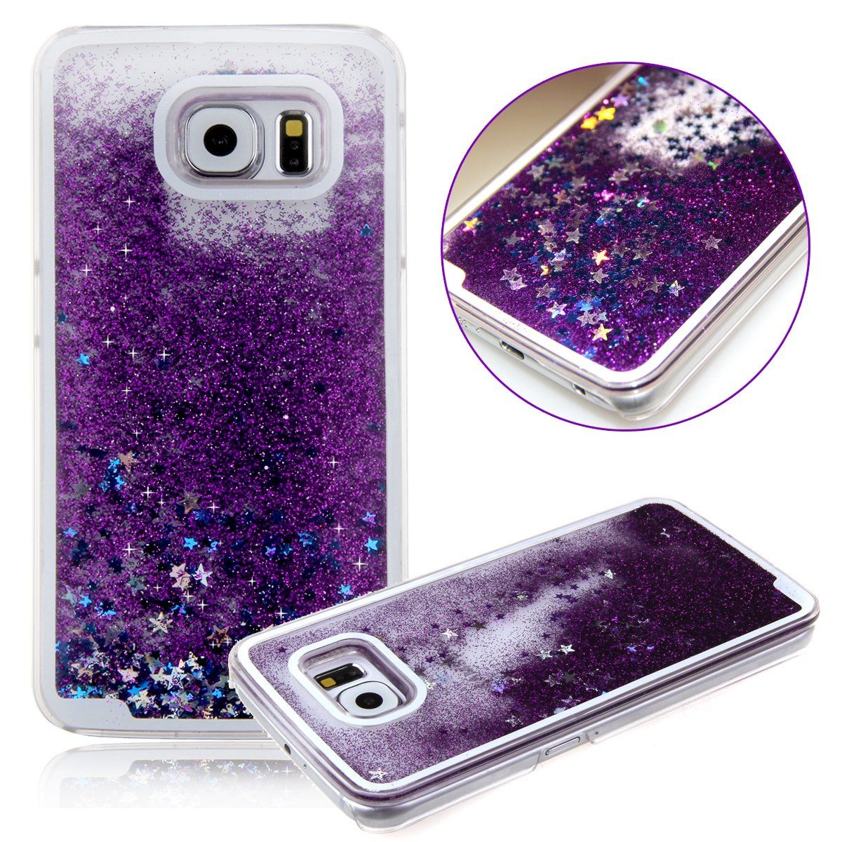 sports shoes 310d6 15a45 Amazon.com: Funny Samsung Galaxy S6 Edge Case,S6 Edge Glitter Case ...
