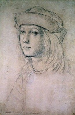 Self-portrait done by Raphael as a youth.