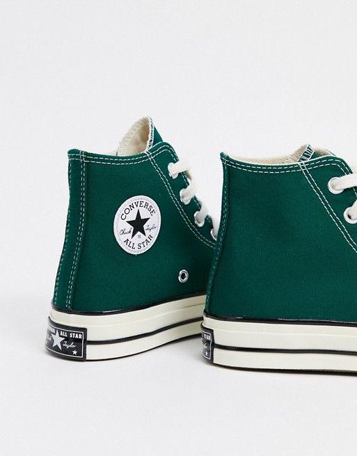 Converse Chuck 70 Hi sneakers in dark green | ASOS
