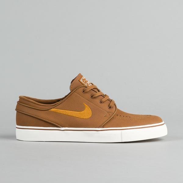 Nike SB Stefan Janoski Leather Shoes Ale Brown Desert