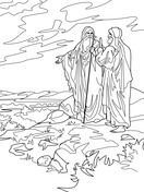 Abraham And Lot Part Ways Coloring Page