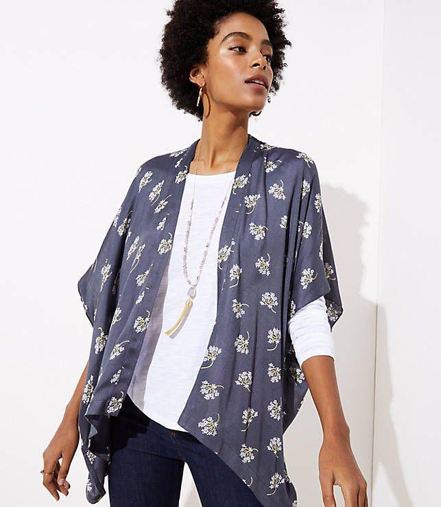 5cc14fc27cd LOFT Bouquet Kimono