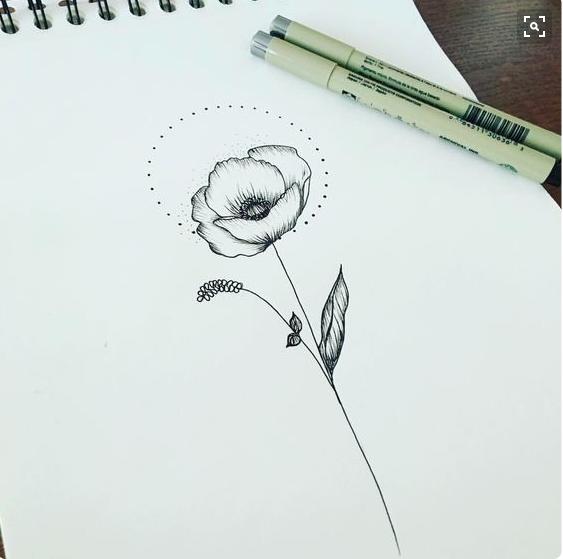 28 Poppy Tattoos Designs Ideas: Poppy Flower Tattoo