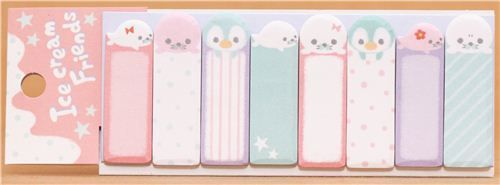 kawaii+sticky+note | kawaii seal and penguin Post-it bookmark sticker