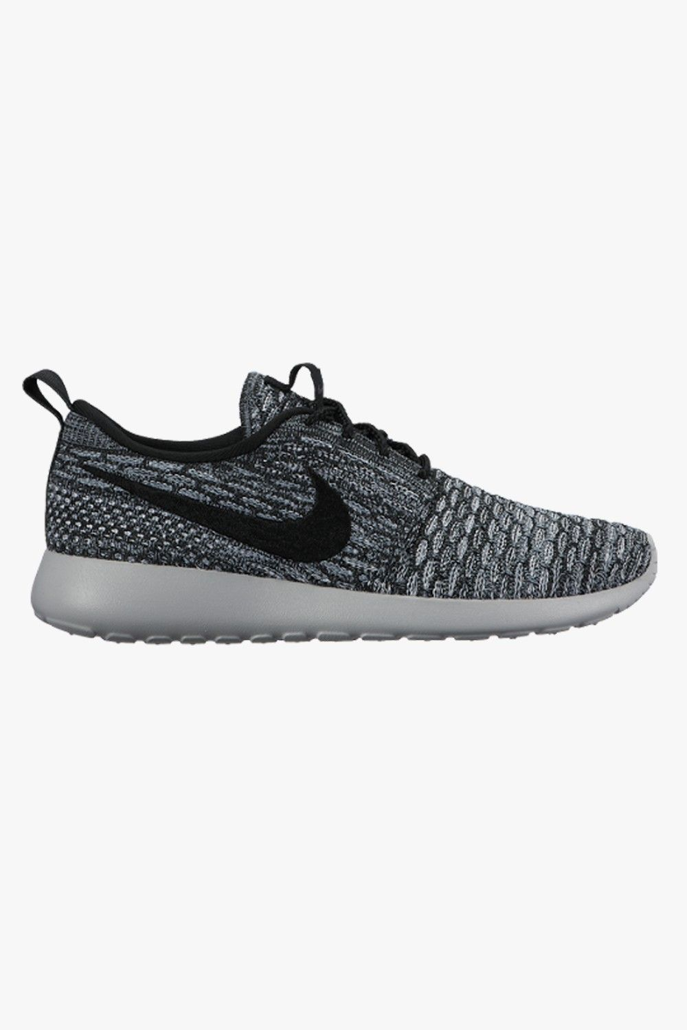 nike roshe flyknit cool grey/wolf grey/white/black womens shoes