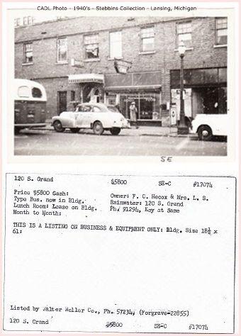 https://flic.kr/p/hn3roc | Bus Station on Grand Ave.-1940's photo-Lansing, MI