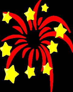 Fireworks vector. Clip art online royalty