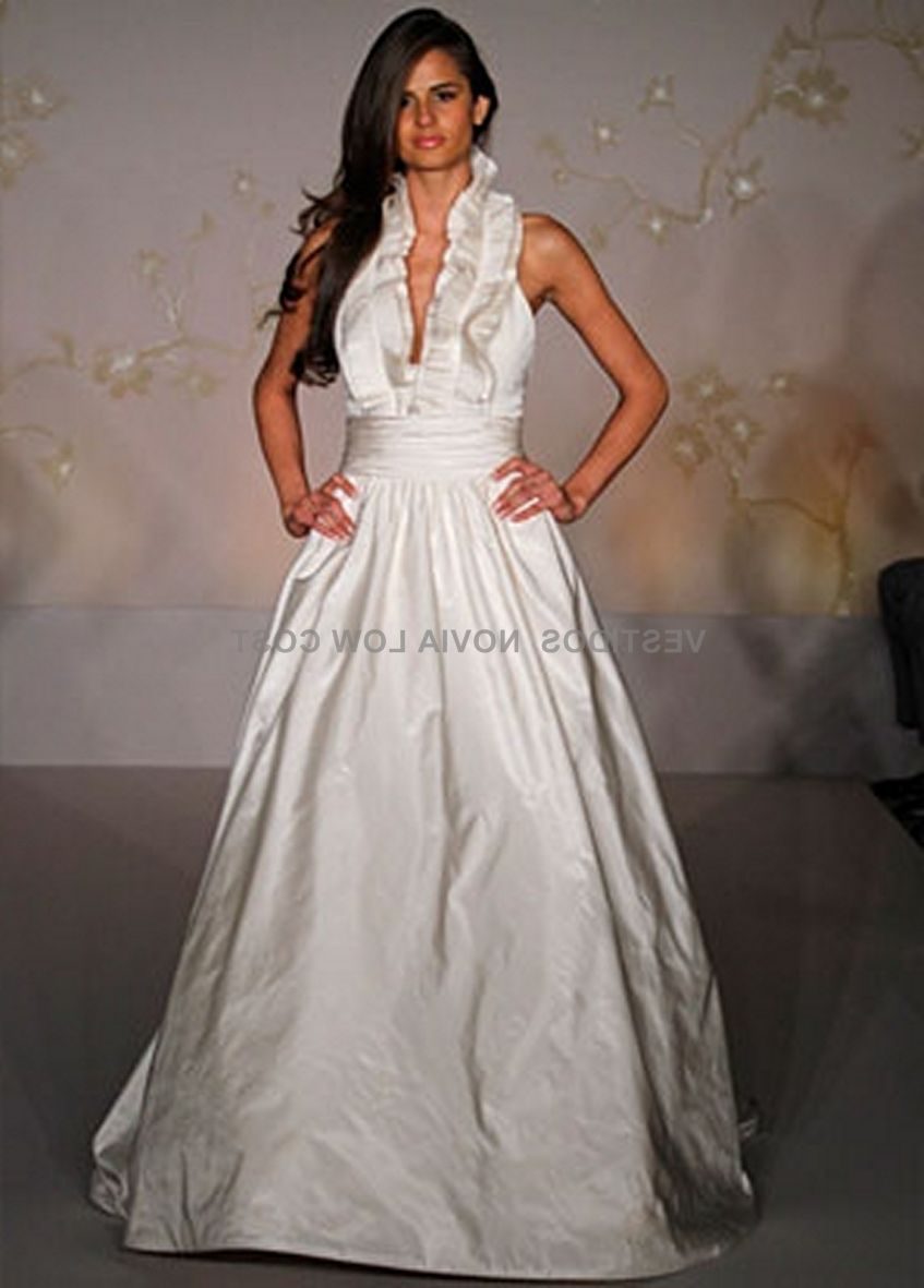 Sincerity Bridal Style 44080 Asymmetric Draped Ball Gown With Pockets Satin Wedding Gown Ball Gowns Wedding Sincerity Wedding Dress