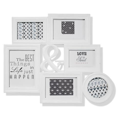 cluster photo frame white kmart