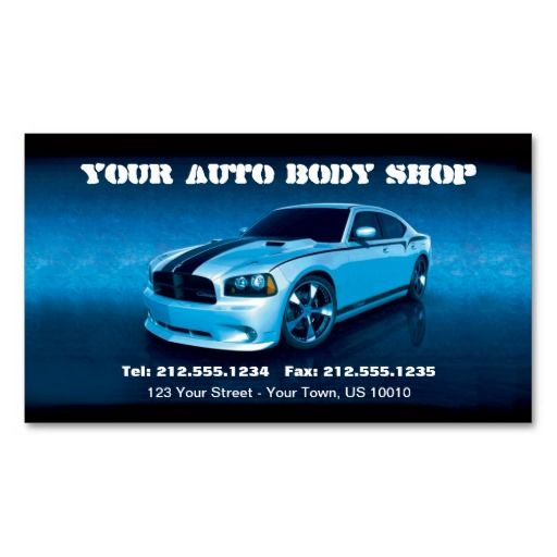 CUSTOMIZABLE Auto Body Mechanic Car Detailing Business Card - Mechanic business cards templates free