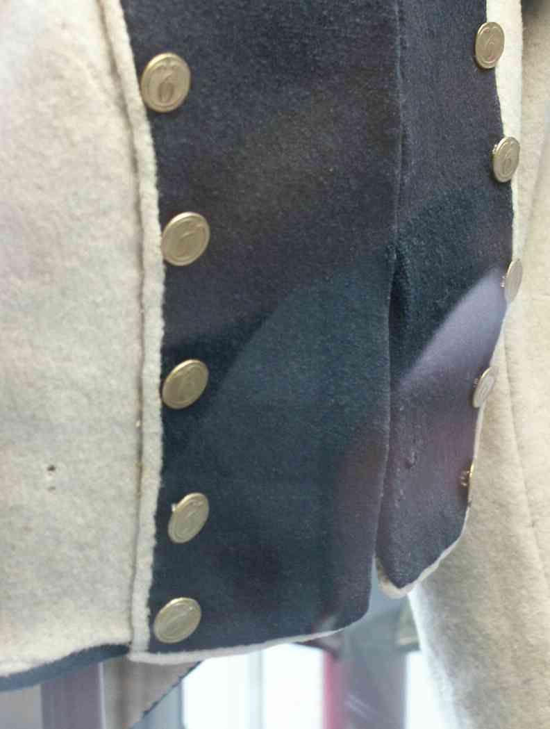 Dettaglio della giacca della fanteria del regno di Westfalia